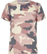 River Island Womens Pink camo print T-shirt