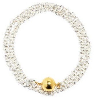 Timeless Pearly Sterling-silver & 24kt Gold-plated Necklace - Silver Gold