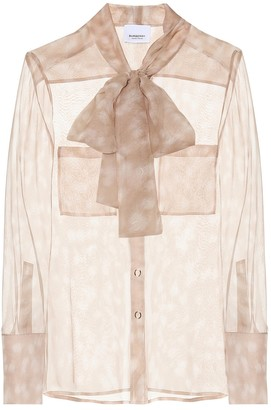 Burberry Amelie printed silk blouse