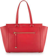 Furla Ginevra Large Leather Satchel Bag, Ruby