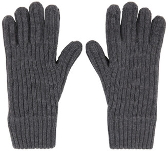 Burberry Grey Cashmere Lined Gloves