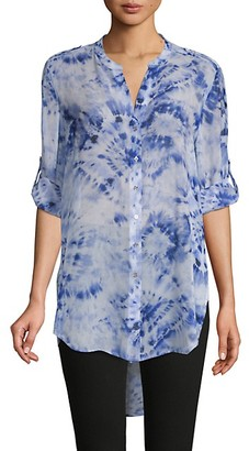 Calvin Klein Tie-Dyed High-Low Tunic