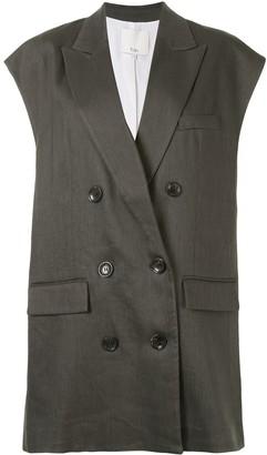 Tibi Double-Breasted Waistcoat