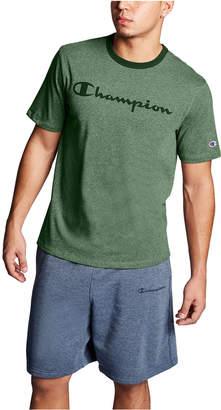 Champion Men Heritage Script-Logo Heathered T-Shirt