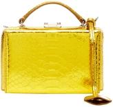 Mark Cross Python Metallic Grace Mini Box Bag