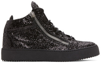 Giuseppe Zanotti Black High Glitter May London Sneakers