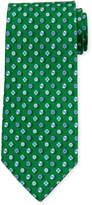 Salvatore Ferragamo Umbrella-Print Silk Tie, Green