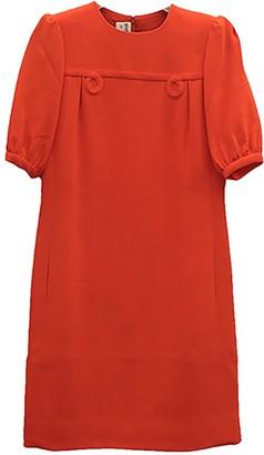 Non Signé / Unsigned Non Signe / Unsigned Orange Cotton - elasthane Dress for Women