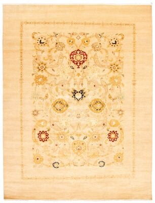 Ecarpetgallery Oriental Hand Knotted Wool Brown/Ivory Area Rug