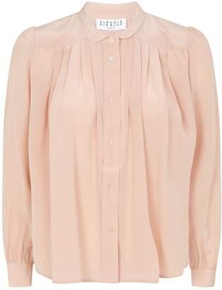 Claudie Pierlot Pleated Silk Shirt