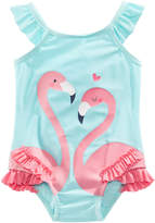 First Impressions 1-Pc. Flamingos Swim Suit, Baby Girls, Created for Macy's