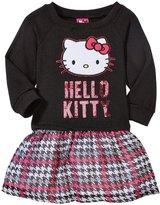 Hello Kitty Fleece To Chiffon Dress (Toddler/Kid) - True Black - 2T