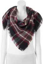 Candies Candie's® Plaid Frayed Triangle Scarf