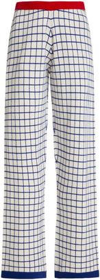 Madeleine Thompson Women's Check Cashmere Sweatpants - White - Moda Operandi