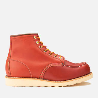 Red Wing Shoes Men's 6 Inch Moc Toe Leather Lace Up Boots - Oro Russet Portage