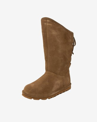 Express Bearpaw Phylly Suede Lace-Up Boots