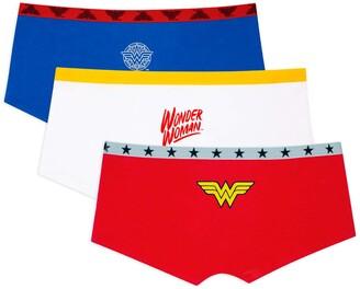 Fruit of the Loom Women's Wonder Woman Boyshort Panty 3 Pack