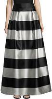 Eliza J Tonal Stripe A-Line Skirt