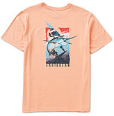 Caribbean Short Sleeve Wind Surfer Print Screen Print Crewneck Graphic Tee