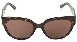 Balenciaga 55MM Tortoise Shell Cat Eye Sunglasses
