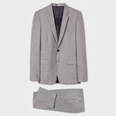 Paul Smith Men's Mid-Fit Grey Crosshatch Wool Suit