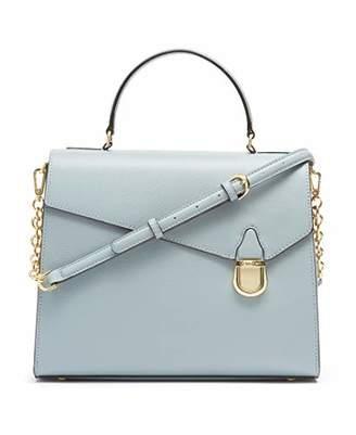 Calvin Klein Iris Hermine Leather Top Handle Satchel
