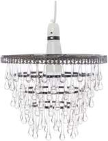 Linea Smoked droplet easy fit pendant