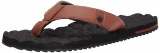 Volcom Men's Recliner Leather Flip Flop Sandal