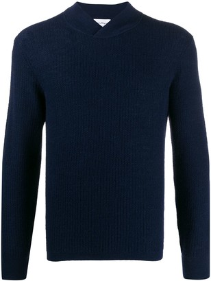 Salvatore Ferragamo Wrap-Effect Neck Knitted Jumper