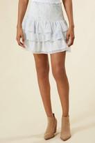 Juniper Blu Snake Smocked Mini Skirt Blue Multi S