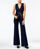 GUESS Judo Belted Denim Jumpsuit