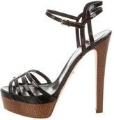 Sergio Rossi Patent Leather Platform Sandals