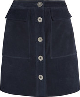 MiH Jeans Damas suede mini skirt