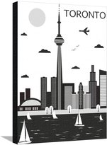 Art.com Toronto. Canada. Vector Stretched Canvas Print By Ladoga - 61x81 cm