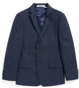 DKNY Boy's Windowpane Plaid Sportcoat