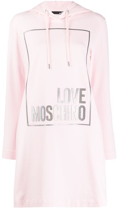 Love Moschino Logo Hooded Dress