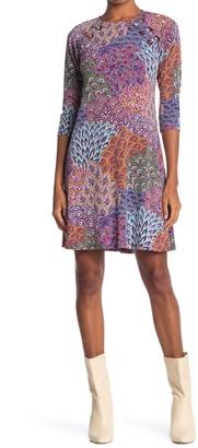 MSK Mixed Print Grommet Trim Dress