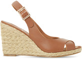 Dune Kia leather wedge sandals