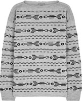 Lanvin Grey Arrow-intarsia Wool Jumper