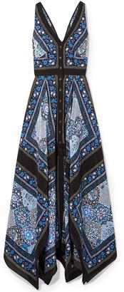 Altuzarra Duel Printed Silk Crepe De Chine Maxi Dress