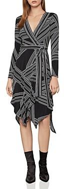 BCBGMAXAZRIA Handkerchief Hem Jersey Wrap Dress