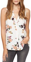 Sanctuary Sleeveless Floral-Print Blouse