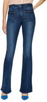 7 For All Mankind Cotton Braided Flare Jeans
