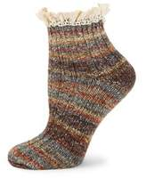 Free People Lace Multi-Colored Crew Socks