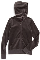 Juicy Couture Girl's Robertson Velour Hoodie