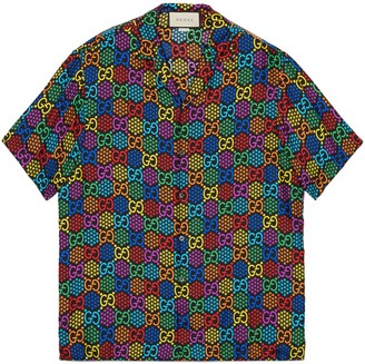 Gucci GG Psychedelic print bowling shirt
