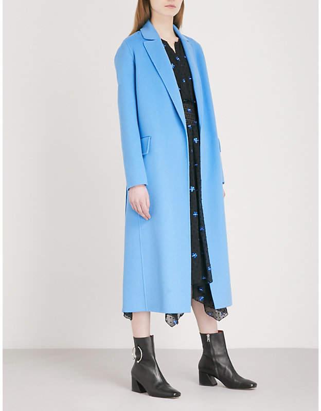 Maje Geode wool-blend coat