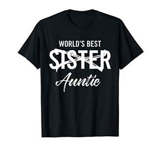 World's Best Sister to Aunt Pregnancy Announcement T-Shirt