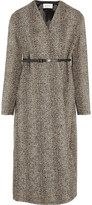 Lemaire Belted wool-blend tweed coat