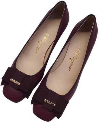 Salvatore Ferragamo Purple Leather Heels